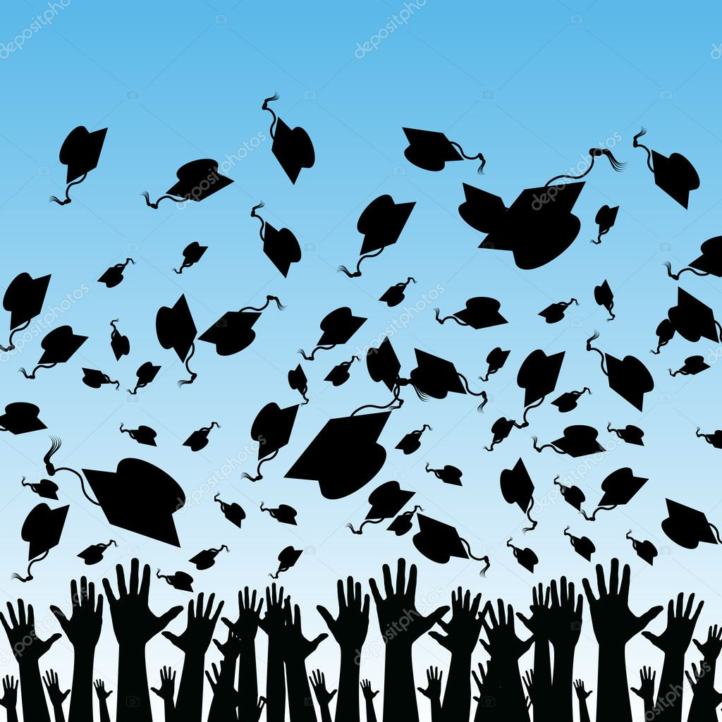 An image of students graduating. — Stock Vector #3993840