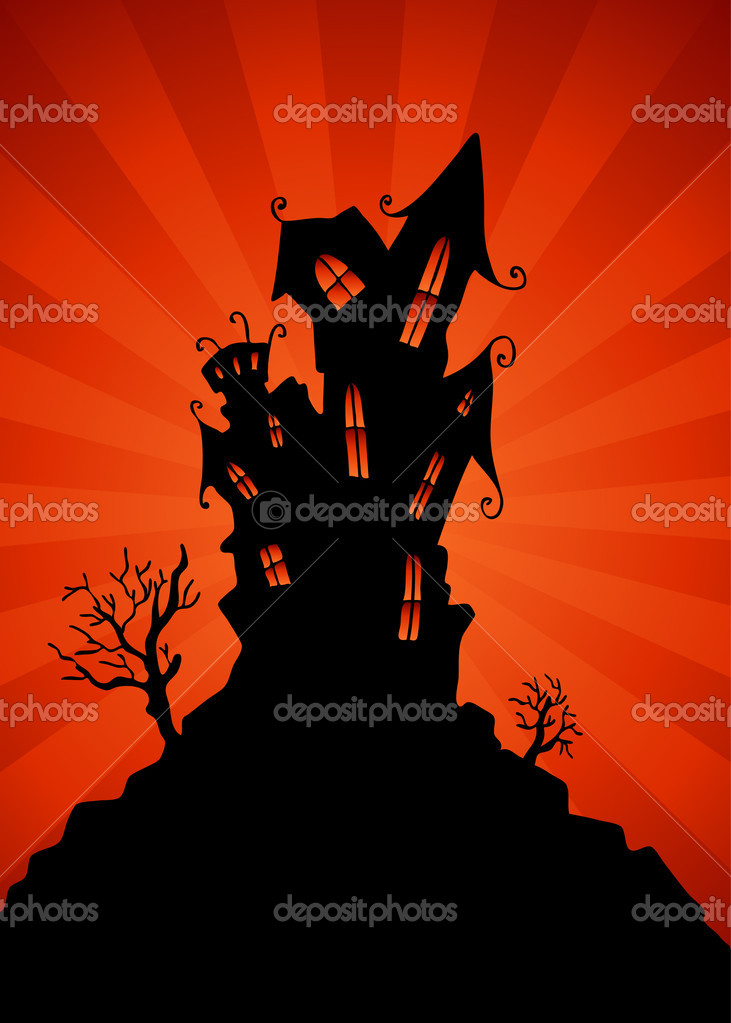 An image of a haunted mansion. — Stock Vector #3999987