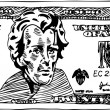 20 Dollar Bill - Stock Vector