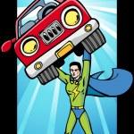 Energy Superhero Glow — Stock Vector