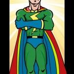 Superhero Man — Stock Vector