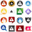 Stock Vector: Warning Icon Set