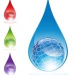 Water Globes — Stock Vector