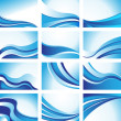 Wave Backgrounds - Stockvectorbeeld