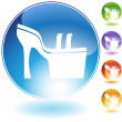 Wedge Shoe Crystal Icon — Vector de stock #4009858