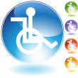 Wheelchair Icon - Stock Vector