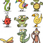 Jungle Cartoon Characters — Stock Vector
