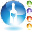 Bottle Glass Crystal Icon — Stock Vector