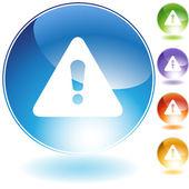 Warning Crystal Icon — Stock Vector