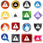 Warning Icon Set — Stock Vector