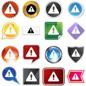 Warning Icon Set — Stock Vector