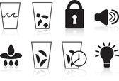 Refrigerator Icons: Black Set — Stock Vector