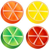 Fruit Slices — Vector de stock