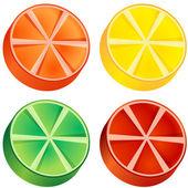 Fruit Slices — Stock Vector