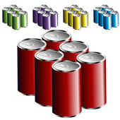 Six Pack Cans — Stock Vector