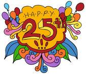 快乐 25 设计元素 — 图库矢量图片