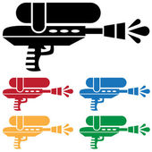 Set of Water Guns — Stock Vector