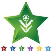 Gwiazda zestaw - chwastów — Wektor stockowy