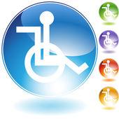 Wheelchair Icon — Stock Vector