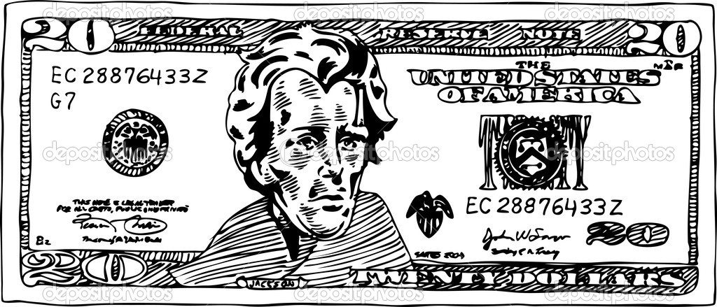 20 dollar bill stock vector cteconsulting 4001391 for One dollar bill coloring page