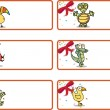 Royalty-Free Stock ベクターイメージ: Christmas Gift Tags - Jungle Animals