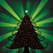 Stock Vector: Xmas Tree with Lights