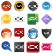 Royalty-Free Stock Vector Image: Multiple Buttons - Religious Fish