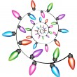 Spiral Christmas Lights — Stock Vector #4010054