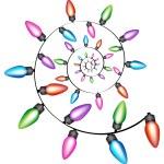 Spiral Christmas Lights — Stock Vector #4010054