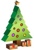 3D Xmas Tree — Stock Vector