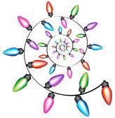 Spiral Christmas Lights — Stock Vector