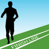 Finish Line — Stock Vector