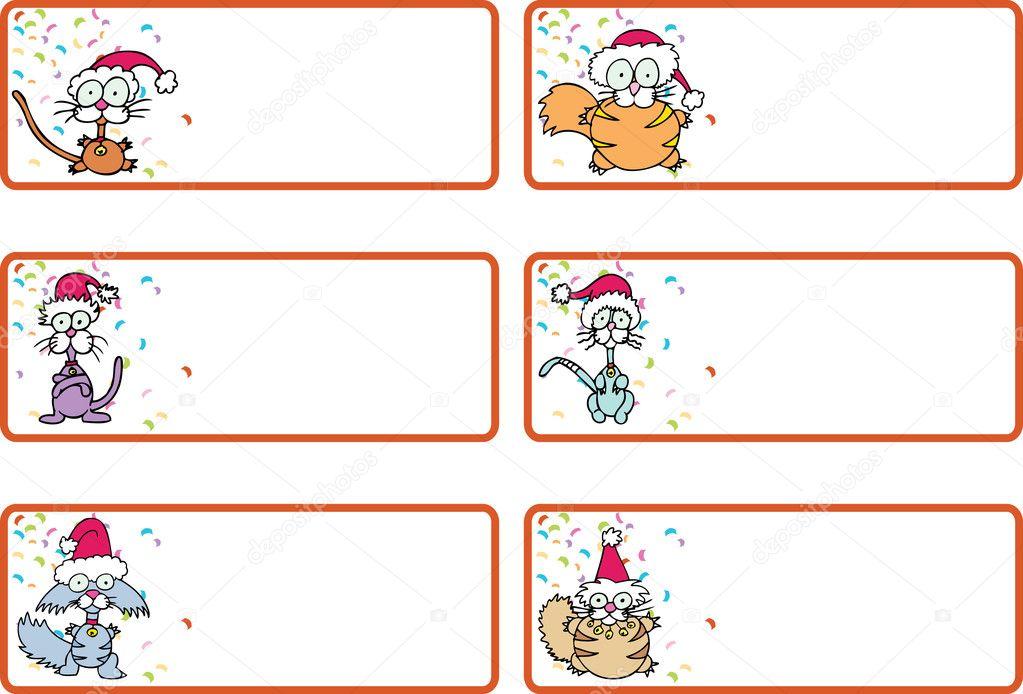 Download - Jingle Cat Christmas Gift Tags — Stock Illustration ...