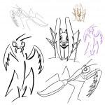 Praying Mantis Drawings — Stock Vector #4022901
