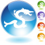 Dragon Crystal Icon — Stock Vector