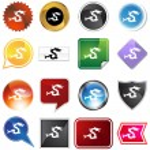Dragon Variety Set — Stock Vector