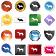 Horse Variety Set — Stock Vector