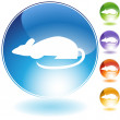 Royalty-Free Stock Imagen vectorial: Rat Crystal Icon