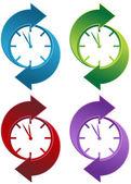 回転時計 — ストックベクタ