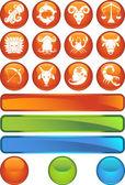 Zodiaku symbole — Wektor stockowy