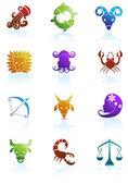 Zodiac Symbols — Stock Vector