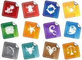 Símbolos do zodíaco — Vetorial Stock
