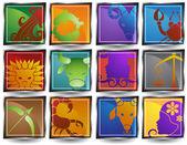 黄道带符号 — 图库矢量图片