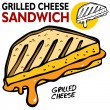 grilled cheese sandwich — Stock Vector