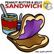 Peanut Butter Jelly Sandwich - Stock Vector