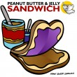 Stock Vector: Peanut Butter Jelly Sandwich
