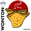 Chinese Fried Wonton — Stock Vector