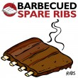 Barbecued Spare Ribs — Stockvectorbeeld