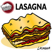 Lasagna Slice — Stock Vector