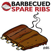 Barbecued Spare Ribs — Stock Vector